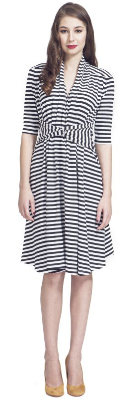 Stripe dress with knot
