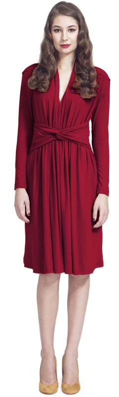 Carmine dress with knot