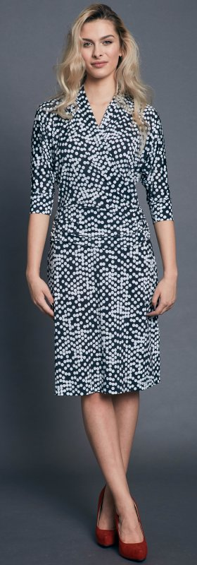Polka dots jersey dress