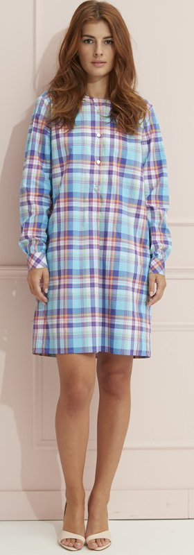 Madras oversize shirtdress
