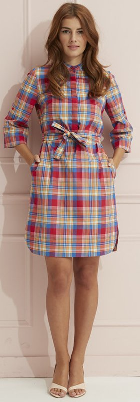 Madras shirt dress